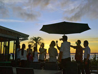 <BBQディナー>夕陽を見ながら仲間や家族と楽しくBBQディナープラン◎朝夕2食付