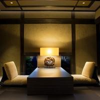 【十六夜 izayoi】 ダイナミックな檜の露天風呂付き客室