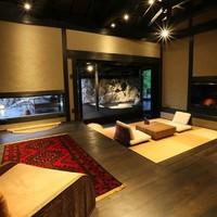 【弓張 yumihari】 洞窟風の岩露天風呂付き客室