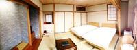 ぼたん鍋 ベッドの部屋