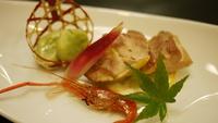【ふくしまエゴマ豚】こだわりメイン料理をプラス一品!ふくしまエゴマ豚とおすすめ四季彩膳コース/2食付
