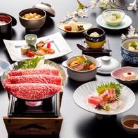 【冬の飯綱会席膳】メイン料理は長野県産りんご和牛すき焼き