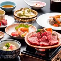 【春の黒姫会席膳】メイン料理は長野県産りんご和牛ステーキ