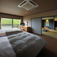 【和室8+6畳+広縁+バス付】 桜側のモダン和室(禁煙)