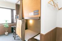 男女共用ドミトリー 2段ベッド 5台 部屋禁煙