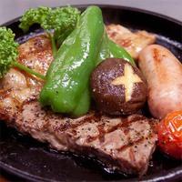 【贅沢なコース料理】本格グリルで山梨の3大高級ブランド肉を堪能。産直の新鮮魚介も堪能。