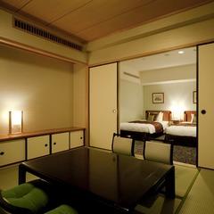 和洋室(禁煙)【57平米】【和室6畳・ツインベット】