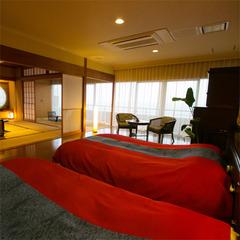 【和洋室】◆島津◆和室12.5帖+ベッドルーム−鹿児島湾側−