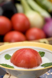 下呂特産のトマトのお料理