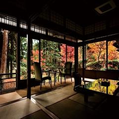 露天風呂付特別室【春慶荘】春慶塗の意匠で統一された格別の名室