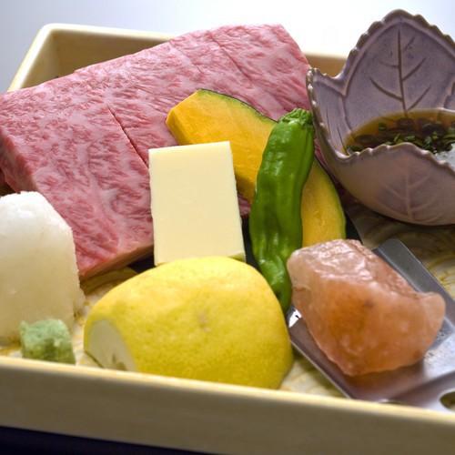 肉好き必見【部屋食】で【どぉ〜んと甲州牛120g】メインのコース料理に舌鼓【ボリュームアップ2食付】
