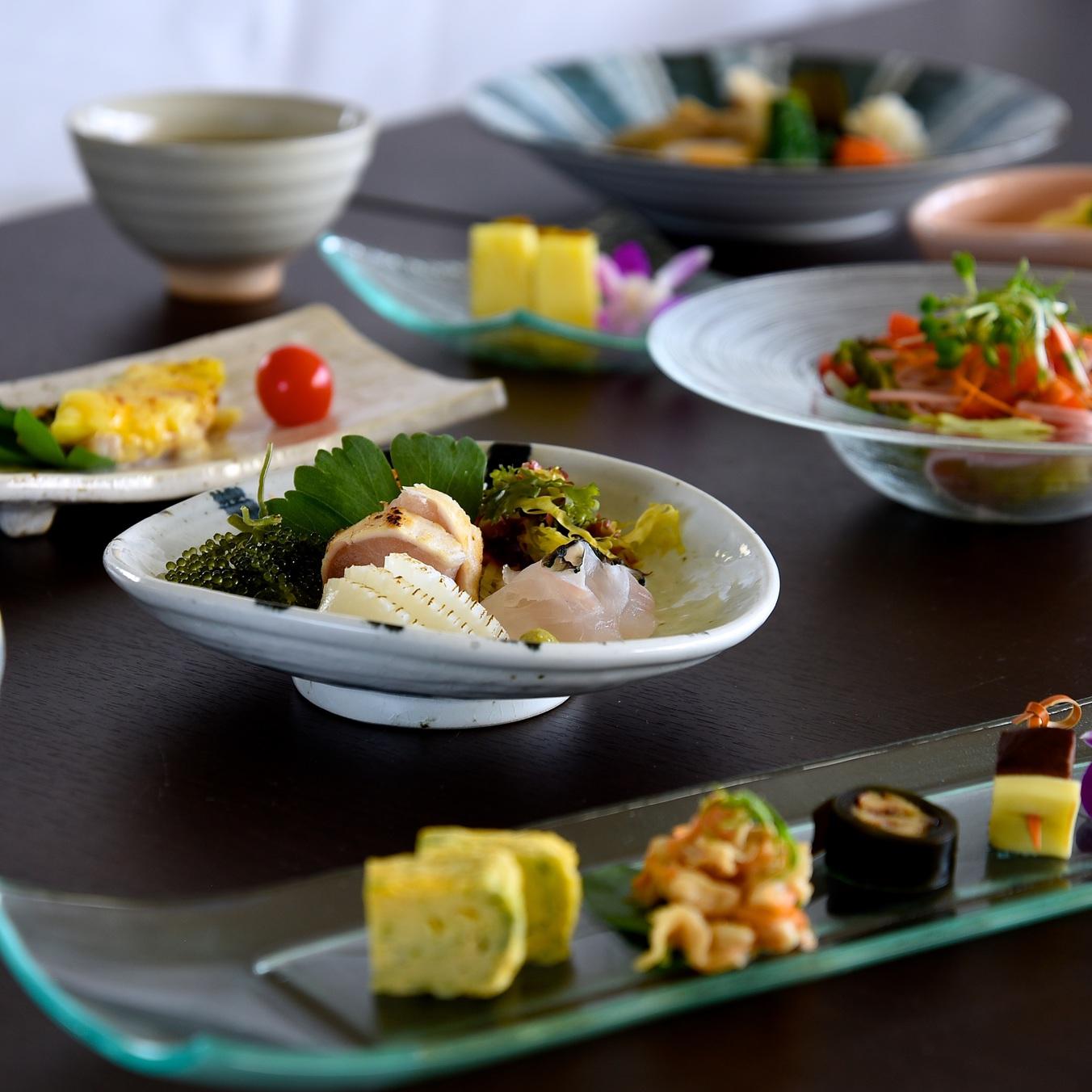 【美味彩菜】 沖縄の郷土料理に舌鼓 美らさん会席プラン 夕食付♪