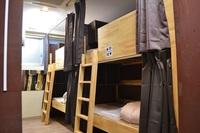 女性ドミトリー 下段のベッド