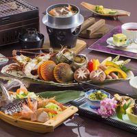 【アワビ&松阪牛&伊勢海老】◆夕食フリードリンク付◆三大味覚を堪能!三大味覚プラン