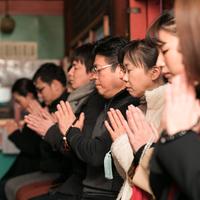 護摩祈祷(ごまきとう)と お粥さん「縁起の朝食」《日帰り体験》