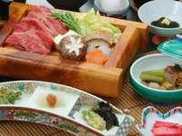 【あずまし屋人気No.1】ご夕食は、ご当地ブランド牛すき焼き和食膳♪