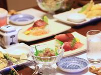 【夕朝食付】料理屋+宿屋★滋味溢れる新鮮な地元海鮮を活かした素朴な海鮮会席料理を個室で味わう♪