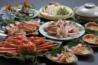 海の幸満載!★カニフルコースに舟盛と自家養殖のカキ料理をたらふく♪★