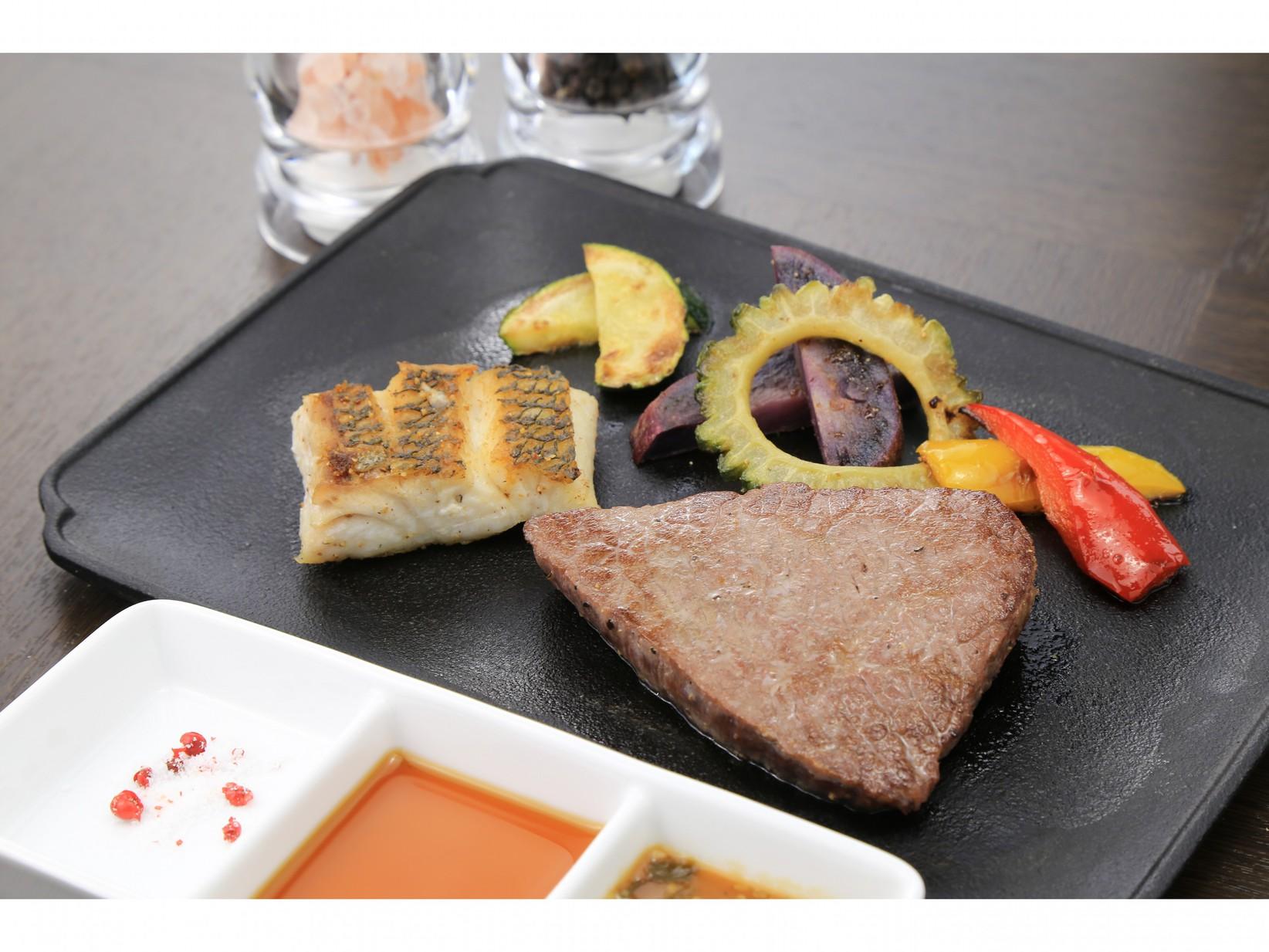 【朝夕付】石垣牛鉄板焼きの贅沢ディナー♪