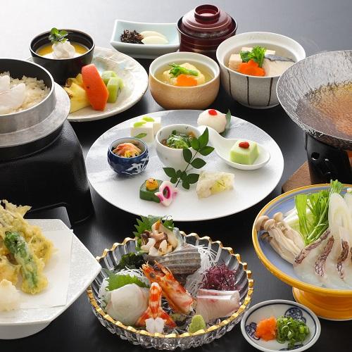 【お魚メイン♪】鯛の旨味がぎゅっと詰まった鯛しゃぶ&鯛めしを食す♪鯛づくし会席プラン(2食付)