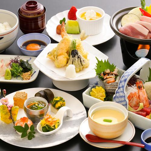 【お魚もお肉も♪】とろける旨味の甘とろ豚と鯛めしがメイン★グレードUP会席プラン(2食付)