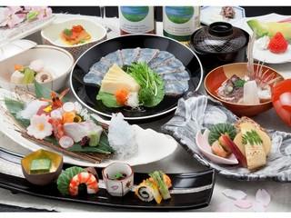 【春得】桜鯛春の三菜会席宿泊プラン(現金特価)