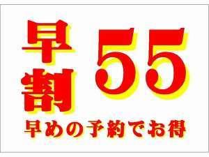 55日前までの予約プラン♪【さき楽】