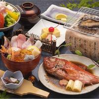 【楽天スーパーSALE】5%OFF<あわび(踊焼き or お造り)>&<金目鯛煮付>&<海鮮丼>