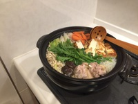 「お部屋で信州地鶏鍋」