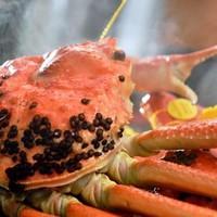 【北陸旅行応援】大蟹(800g)を使用した幻の蟹料理!蟹味噌しゃぶ付き会席フルコース!1泊2食プラン