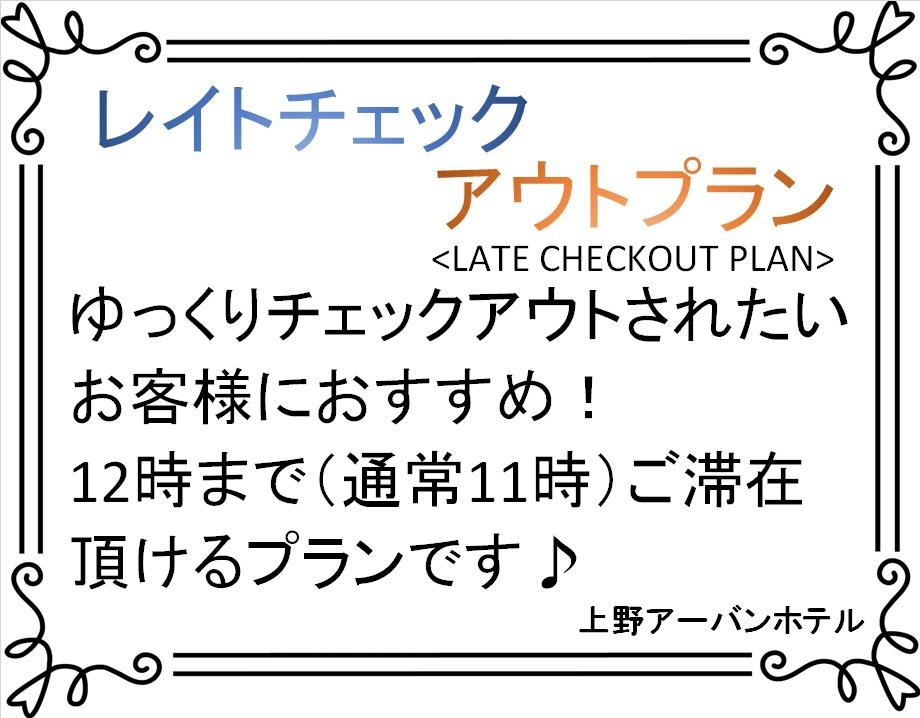 【レイトチェックアウト・素泊まり】プラン♪(チェックアウト12:00)