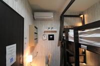 3人部屋 二段ベッドのお部屋(ベッド3台) 共用バスルーム