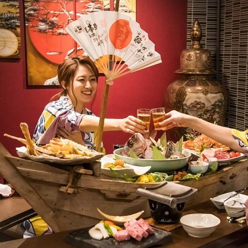 【秋冬旅セール】★今だけオトク★大人気の『元祖船盛り料理』×露天風呂付客室でゆったり♪