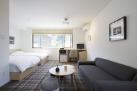 【東山の新築ホテル! 】デザイナーズホテルの豪華ツインルーム 36平米