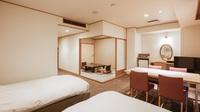 【湯美亭和洋室】洋間ベッド+和室6畳<禁煙>