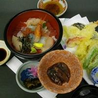 【夕食付】大満足☆海鮮丼&天麩羅御膳プラン☆北陸の海の幸を楽しもう♪