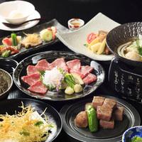 お好きな料理2タイプからチョイス!『お肉中心の会席』or『お魚中心の会席』