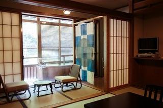<砂湯側>露天風呂付和室(10帖・客室専用露天・トイレ)