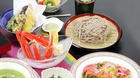 【宿自慢の和会席】贅沢派におススメ│しゃぶしゃぶ食べ放題+そば+ノドグロ+カニ<2食付>