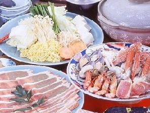 【1泊2食】鍋物等の夕食用食材&朝食の2食付き専用露天風呂付きコテージステイプラン