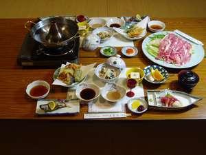 選べる季節の食事プラン(富士桜ポークしゃぶしゃぶ膳)カップル、ファミリー