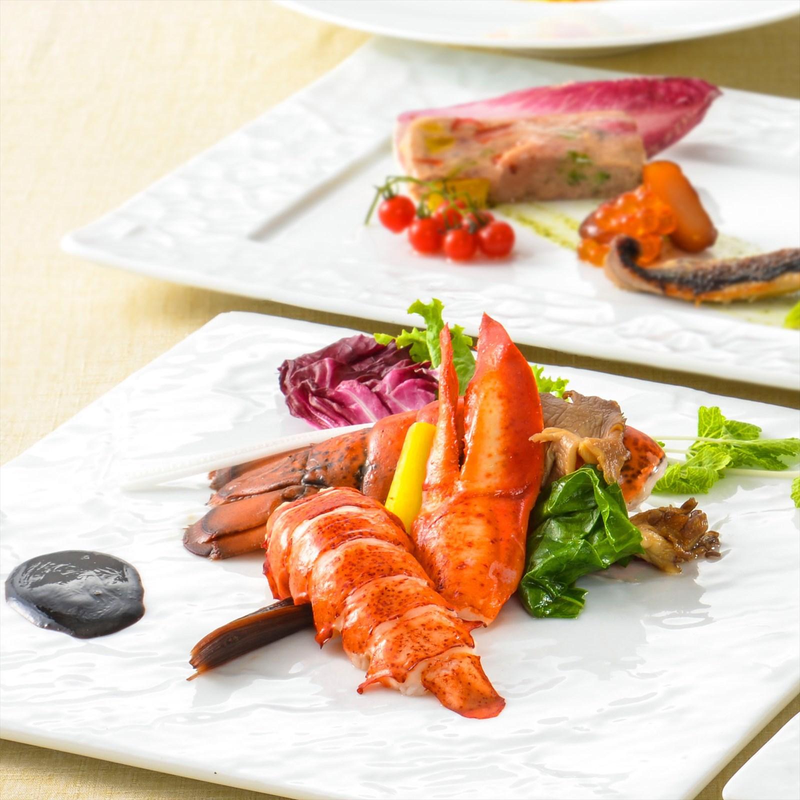 【夕食・朝食付】オマール海老のロティにミルクフェッド仔牛のタンと地野菜のおすすめコース|2月まで