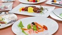 【夕食・朝食付】(飲み放題付)和牛フィレのオランデーズと和牛ロースのシャリアピン 特選コース|5月迄
