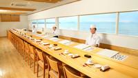 【海辺の鮨屋台】ランクアップ料理長おまかせコース&コテージでほっこりスイーツタイムプラン