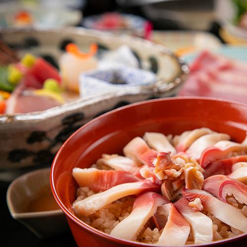 【基本会席】名物☆季節にあわせた「海沿い宿の海鮮飯」<ほっき飯・穴子飯・はらこ飯・帆立飯>