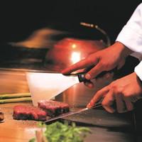 【ご夕食17:30スタート】ワンドリンク特典付〜鉄板焼ダイニング「佐賀竹彩」鉄板焼ディナー(2食付)