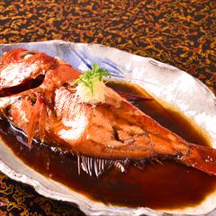 【夕朝食とも部屋食】【お料理贅沢!】 伊豆近海産・金目鯛煮付け×A5ランク牛へグレードアップ!