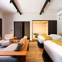 一棟建て和洋室<とち>ツインベッドルーム+和室+露天温泉
