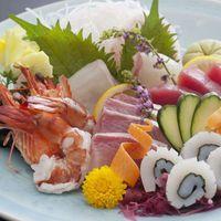 【和牛肉盛り×旬魚のお造りの贅沢プラン】愛媛産の旬魚のお造りは5種盛り!和牛はしゃぶしゃぶ&陶板焼き
