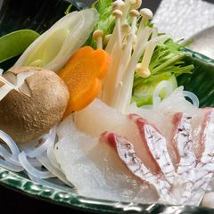 【さき楽60】お一人様600円引〜♪≪愛媛産鯛5つ星プラン≫鯛しゃぶ&出汁鯛茶漬けがうまい!